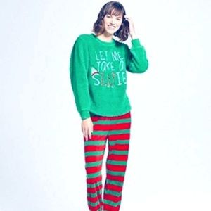 "ELF Intimates & Sleepwear - BRIEFLY STATED Women's Elf Christmas Pajama Set ""L"